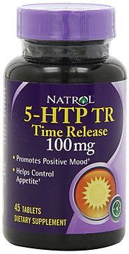 Natrol 5-HTP Tr 100mg Tablets, 45-Count