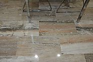 Envy Your Neighbours Using Polished Vein Cut Savannah Sunset Travertine Flooring And Tiles From Stone-Mart