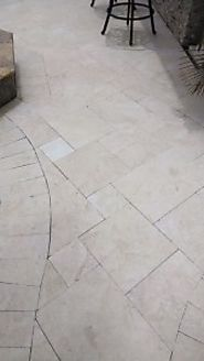 Add A Startling Beauty To Your Pool Using Crema Pearl French Pattern Marble Pavers From Stone-Mart