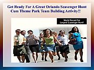 Get Ready For A Great Orlando Scavenger Hunt Theme Park Team Building…