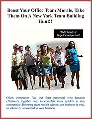 Boost Your Office Team Morale, Take Them On A New York Team Building Hunt!!