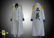 One Piece Admiral Aokiji Kuzan Cosplay Costume Marine Coat