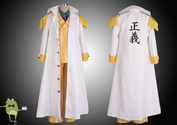 One Piece Admiral Kizaru Borsalino Cosplay Costume Marine Coat