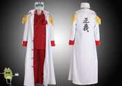 One Piece Admiral Akainu Sakazuki Cosplay Costume Marine Coat