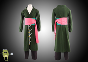 One Piece Roronoa Zoro Cosplay Costume Outfit 2 Years Later