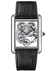Replique Montre Cartier Tank Louis Cartier Sapphire Skeleton W5310012
