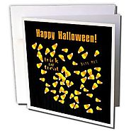 Beverly Turner Halloween Design - Candy Corn, Trick or Treat, Bite Me, Halloween - 1 Greeting Card with envelope (gc_...