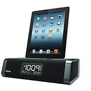 iHome iDL45BC Lightning Dock Clock Radio/ Alarm with USB Charge for iPod, iPad and iPhone