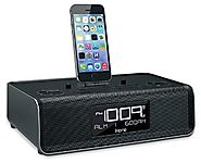 iHome Dual Charging Stereo FM Clock Radio with Lightning Dock and USB Charge/Play, Black (iDL43B)