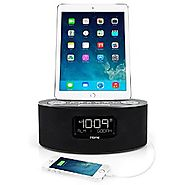 iHome iDL46 Lightning Dock Clock Radio and USB Charge/Play for iPad/iPod and iPhone 5/5S and 6/6Plus iPad Air /iPad M...