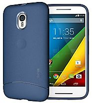TUDIA Ultra Slim Full Matte ARCH TPU Bumper Protective Case for Motorola Moto G 3 (3rd Gen 2015 Released) (Blue)