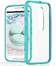 Moto G 3rd Gen Case - VENA [RETAIN] Slim-Fit Hybrid Case [2.0mm Thin] with ShockProof Cornerguard Bumper + Clear Hard...