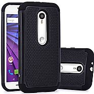 Moto G (3rd Gen) Case, LK [Shock Absorption] Hybrid Dual Layer Armor Defender Protective Case Cover for Motorola Moto...