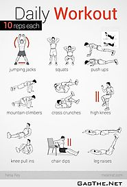 Daily Workout - 10 Reps Each