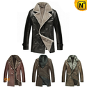 Leather Coat for Men CW141468