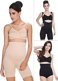 Set of 3 : 1 Shapewear + 1 Thigh Shaper + 1 Tummy Tucker - Shape Wear by C9