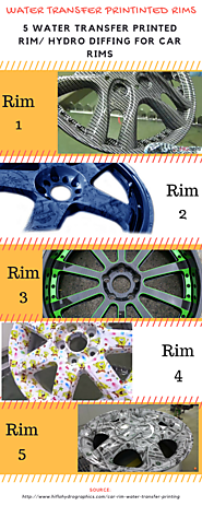 5 Water Transfer Printed Car Rims