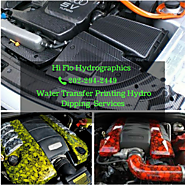 Water transfer printing hydro dipping printing for car fender and engine parts