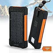 Solar Charger, Levin 10000mAh USB Solar Panel Portable Charger for iPhone, Android Smart Phone, Windows Phone and Tab...