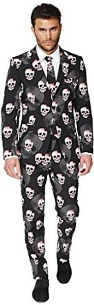 OppoSuits Men's Skulleton Party Costume Suit