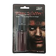 Mehron Stage Blood with Splatter and Drip Effect, 1 oz Squirt Pump Bottle
