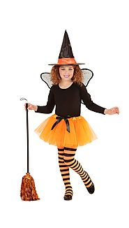 "96547 - ""WITCH FAIRY"" (tutu, wings, hat)"