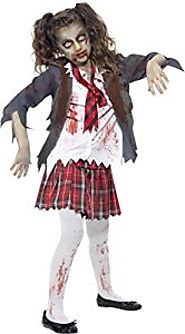 Zombie School Girl - Halloween - Children Fancy Dress Costume - Teens 13+