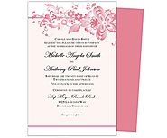 Amour Wedding Invitation Template