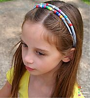 Recycled Tee Shirt Beaded Headbands