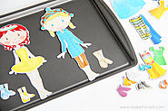 Make your own Magnetic Paper Dolls (and a fabric cover for your metal base) | Make It and Love It