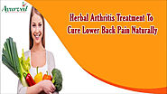 Herbal Arthritis Treatment To Cure Lower Back Pain Naturally