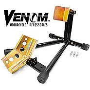 Venom® Universal Motorcycle Wheel Tire Chock Self-locking Bike Stand Chocks For Harley Davidson, Yamaha, Honda, Kawas...