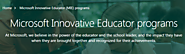 Microsoft Innovative Educator (MIE) programs- Overview