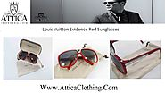 Louis Vuitton Evidence Red Sunglasses