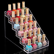 6 Layers 24 Bottles Acylic Nailpolish Display
