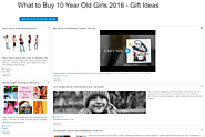 What to Buy 10 Year Old Girls 2016 - Gift Ideas