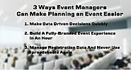 Event Managers Can Make Plan an Event Easier | MLeads Blog