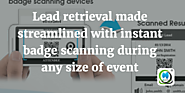 Lead retrieval made streamlined with instant badge scanning during event | MLeads Blog