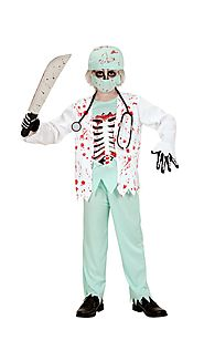 0576 - ZOMBIE DOCTOR (bloody jacket with shirt & bones chest, pants, hat, face mask, stethoscope)