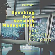 Speaking for a Network Management and Security Company