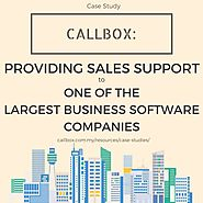 Callbox: Providing Sales Support to one of the Largest Business Software Companies