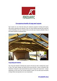 Get numerous benefits of using steel carports Adelaide - Pergolarific