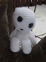 Princess Mononoke Kodama pattern by Stephanie Budd