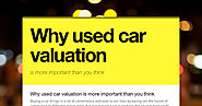 Why used car valuation