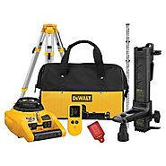 DEWALT DW074KDT Rotary Laser Kit with Laser Detector and Tripod