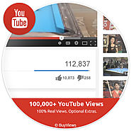 Buy 100k Real Authentic YouTube Views - Buyviews.co