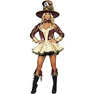 Roma Women's Deluxe Tea Party Hatter Costume