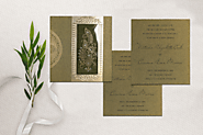 DEEP GREEN FOIL STAMPED CHEAP WEDDING INVITATIONS - A2zWeddingCards