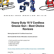 Heavy Duty 18 V Cordless Grease Gun - Best Choice Reviews