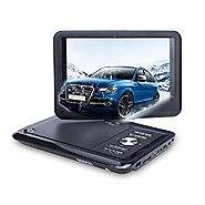 NAVISKAUTO 9 Inch Portable DVD/CD/MP3 Player USB/SD Card Reader with 5 Hour Built-In Rechargeable Battery, 270° Swive...